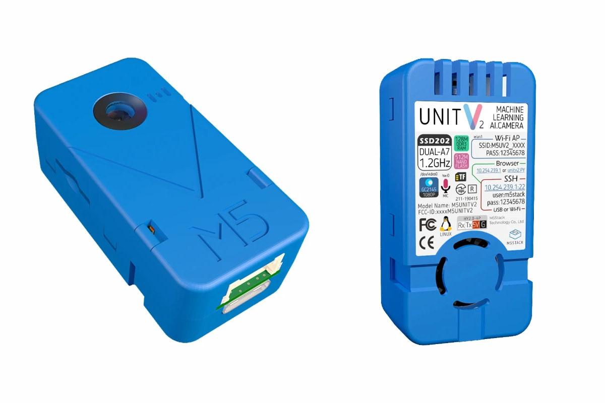 M5Stack UnitV2 Linux AI camera features Sigmastar SSD202D SoC