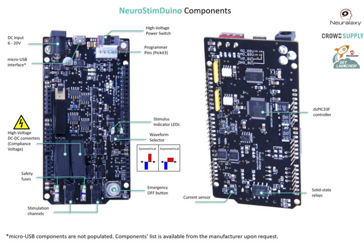NeuroStimDuino specifications