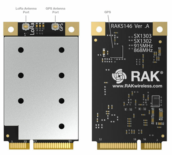 RAK5446 SX1303 concentrator