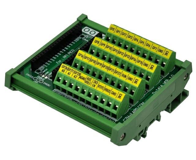 RP2040 board DIN Rail mount