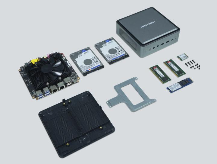 Ryzen 4000U mini PC cooling storage
