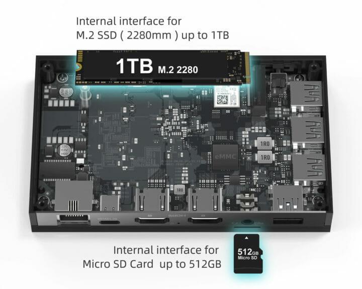 Ultra thin mini PC 1TB NVMe SSD