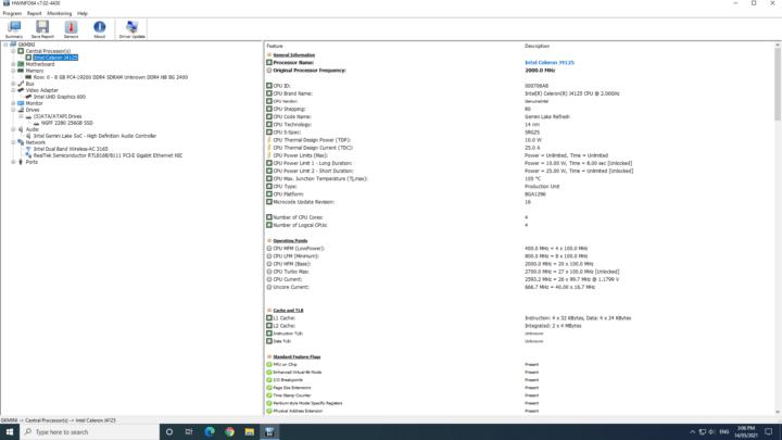 windows configuration hwinfo64 details