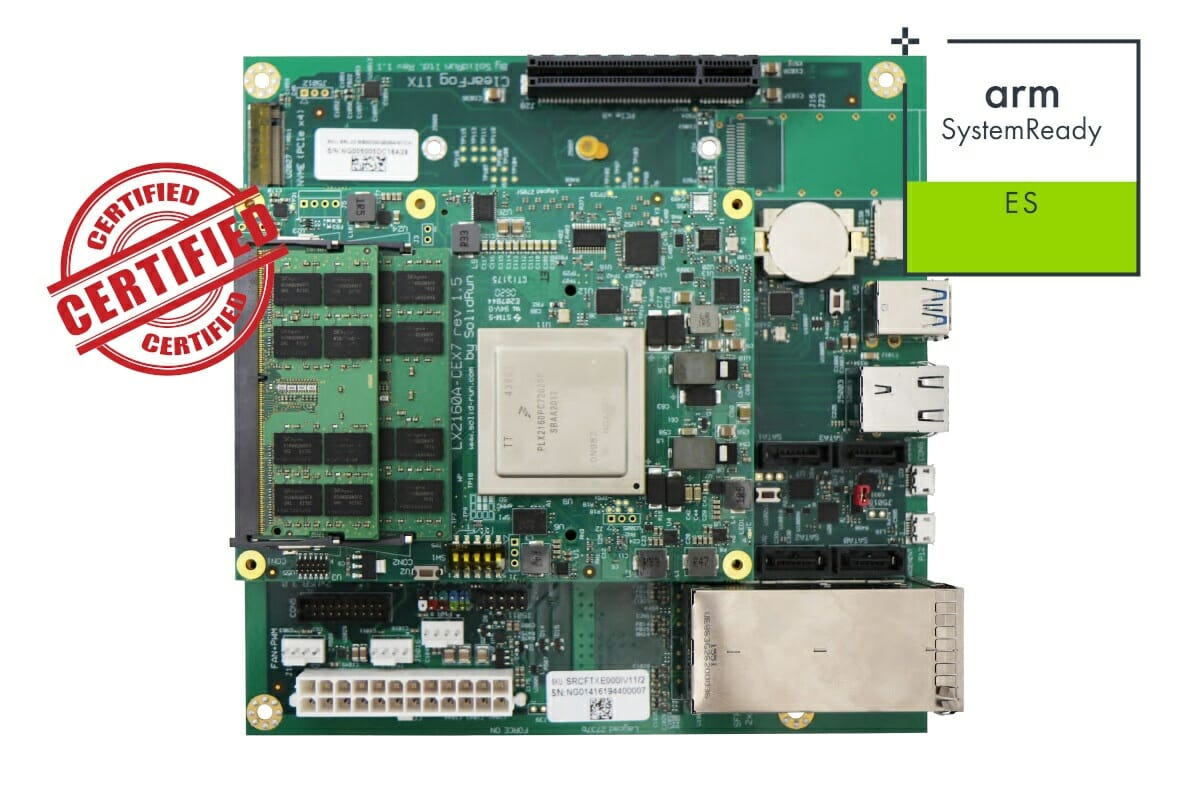 Arm SystemReady ES certified SBC