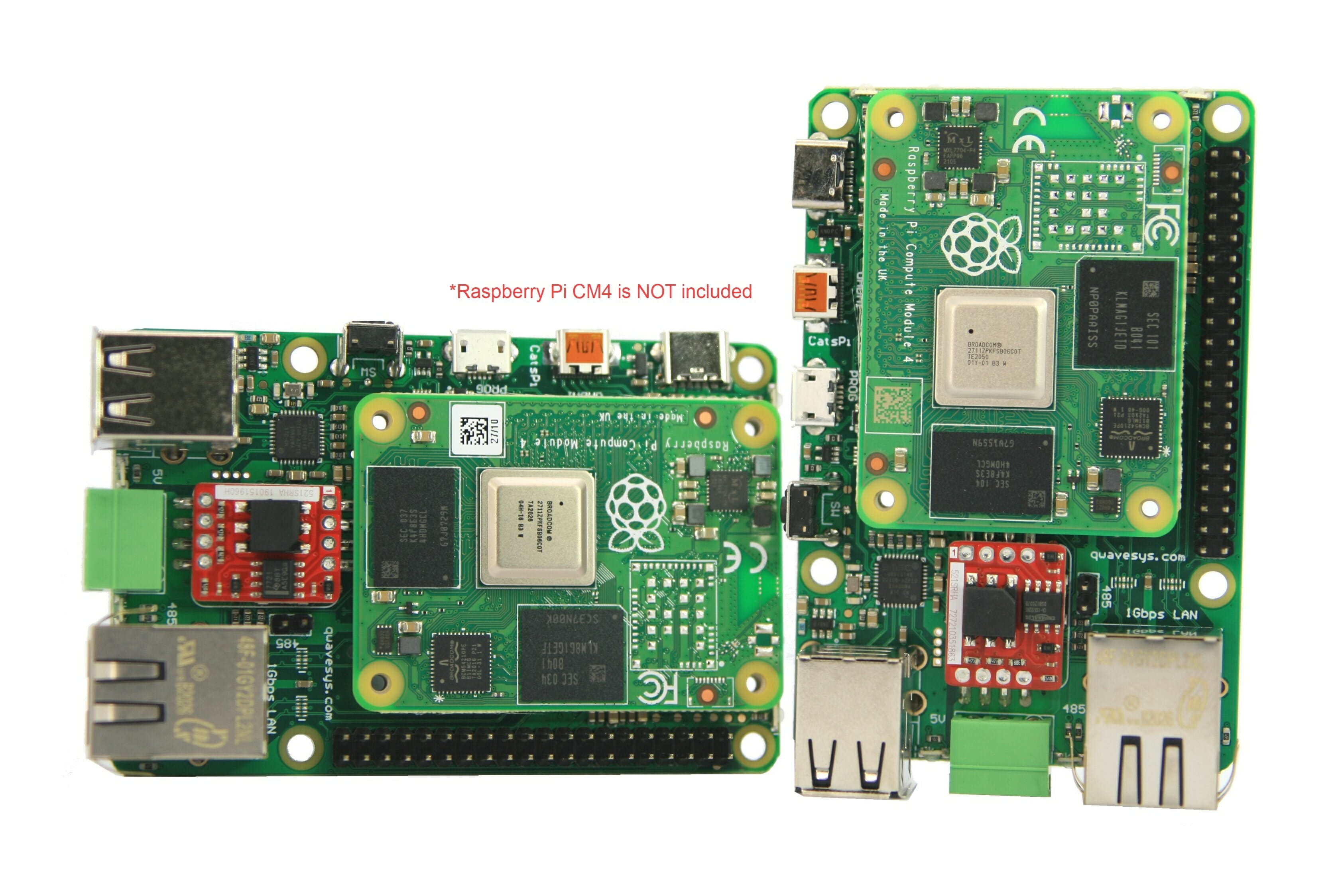 CatsPi Industrial Lite RPi CM4 carrier board features GbE, RS485, Watchdog MCU