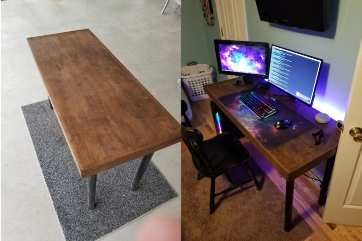 Computer Desk made with Genmitsu 6060 XY-Axis CNC router Extension Kit