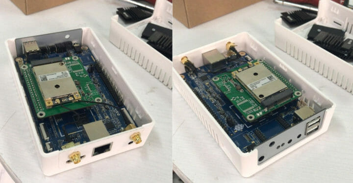 Pine A64-LTS RAK2287 Mini-PCIe-LoRaWAN Concentrator Module