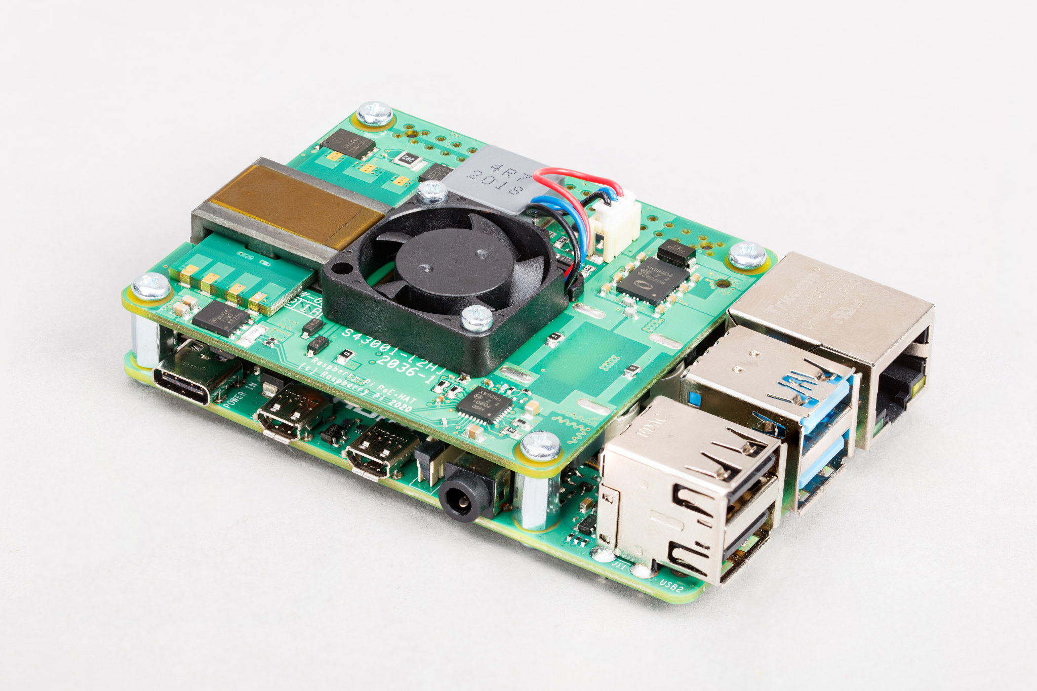 Raspberry Pi PoE Plus HAT Pi 4