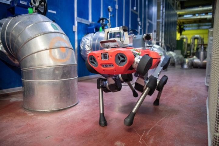 anymal c legged robot ml industrial inspection action