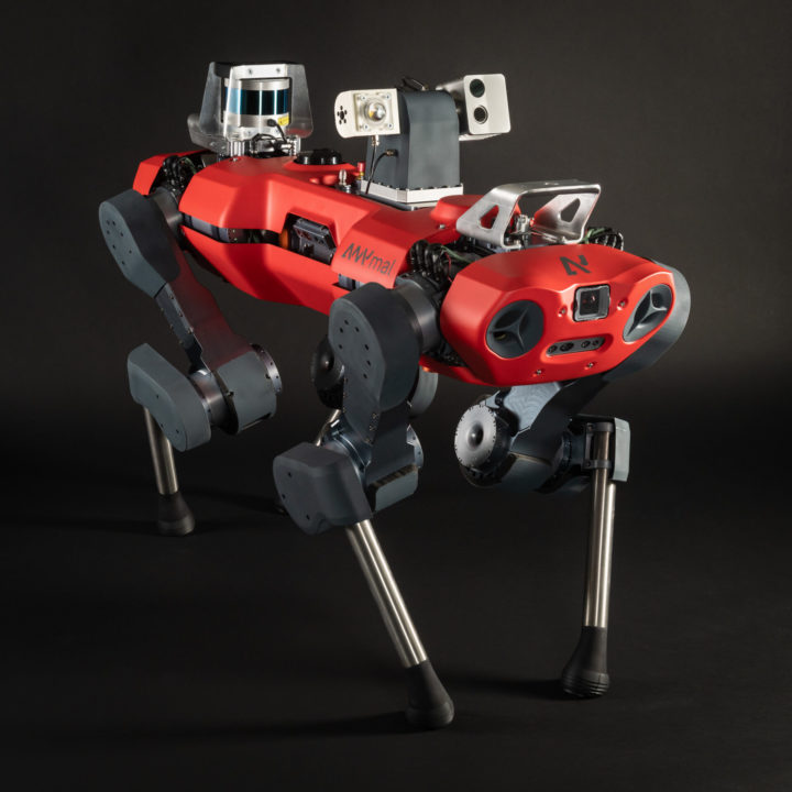 anymal c legged robot with inspection payload
