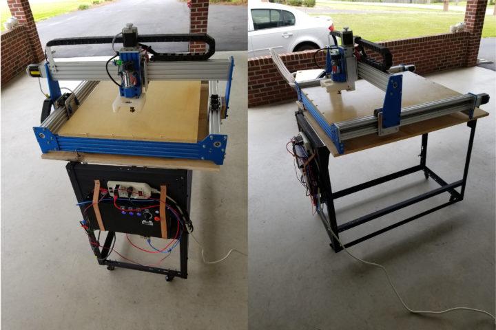 folding cart CNC router