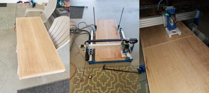 working on lumber