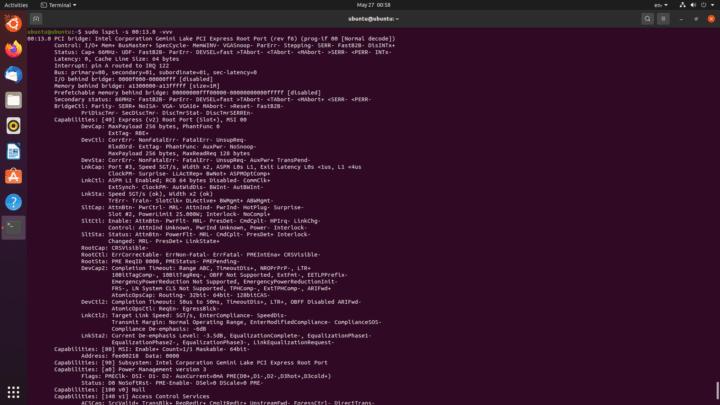 ubuntu pcie configuration
