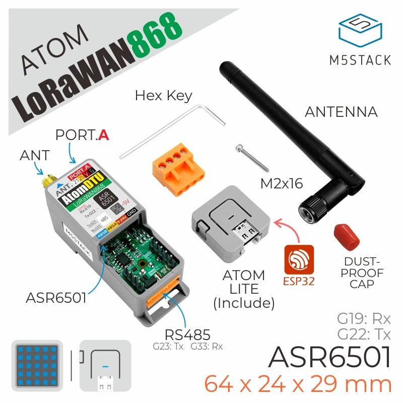 ESP32 WiFI, Bluetooth, LoRaWAN, and RS485 kit