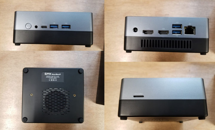 GMK NucBox2 ports