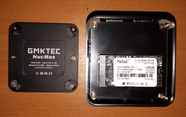 GMKTEC NucBox Netac SSD