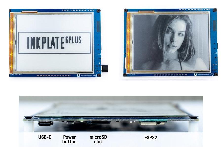 Inkplate 6PLUS ESP32 wireless display