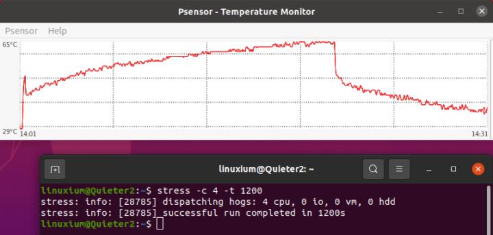 MeLE Quieter2 ubuntu stress test