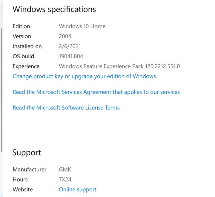 NucBox2 Windows 10 Home