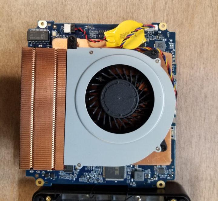 Nucbox2 cooling with fan & heatsink