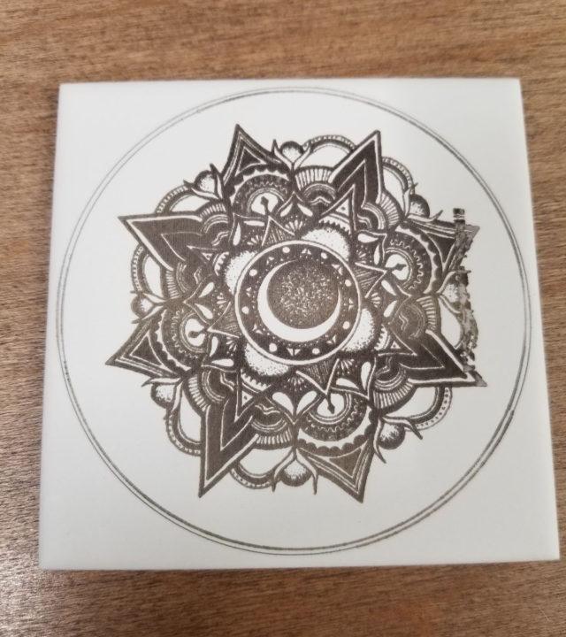 Ortur Laser Master 2 Pro tile engraving