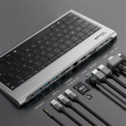 QGeeM Keyboard & USB-C Dock