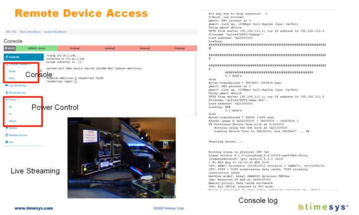 Remote device access with Embedded Board Farm solution