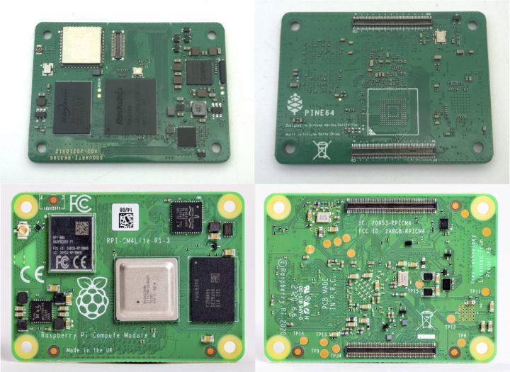 SOQuartz vs Raspberry Pi Compute Module