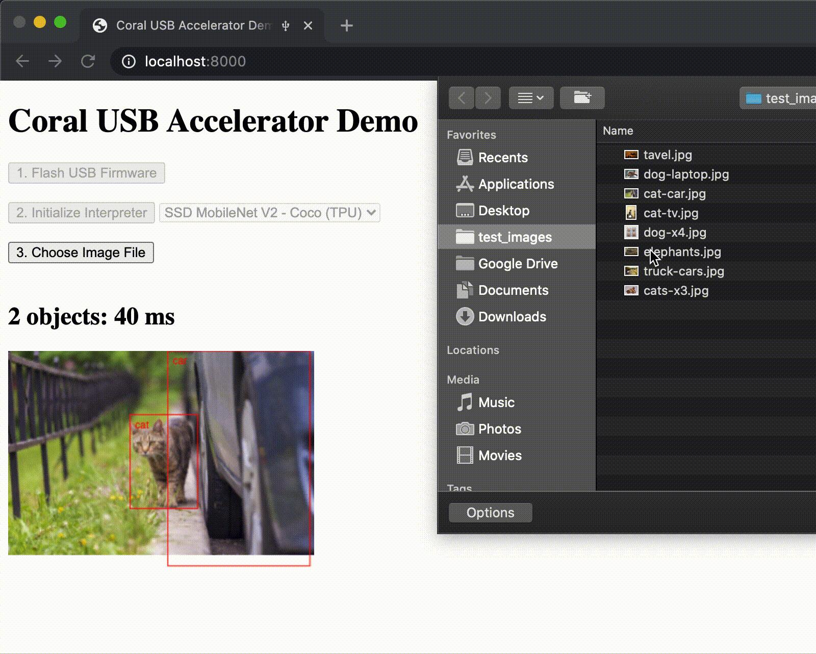 WebCoral Coral USB Accelerator Chrome