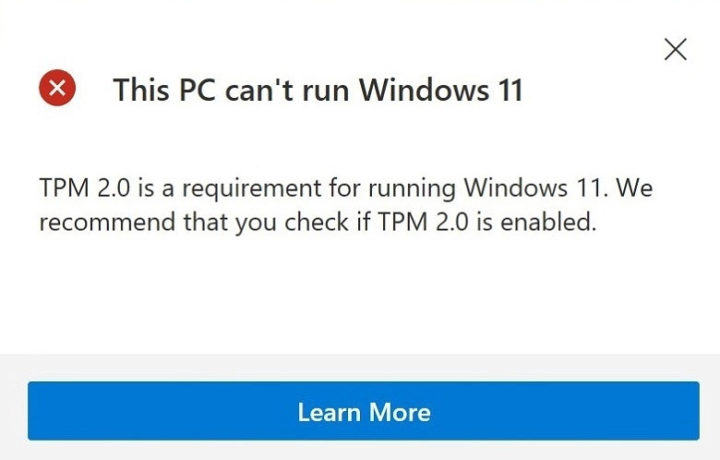 Windows 11 Fail TPM 2.0