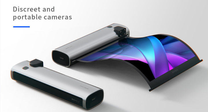 camera rollable screen