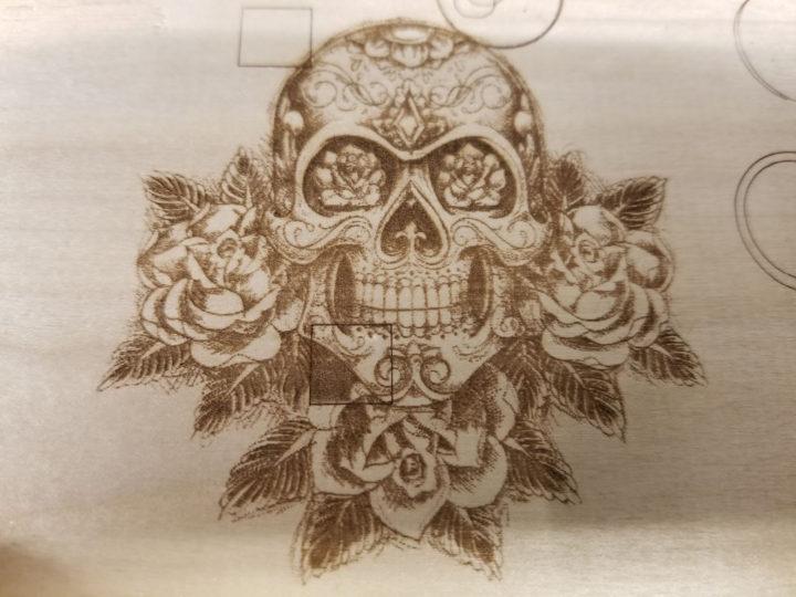 head skull laser engraving