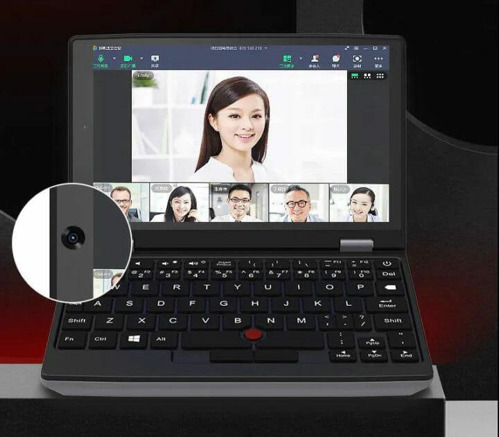 mini laptop webcam zoom conference