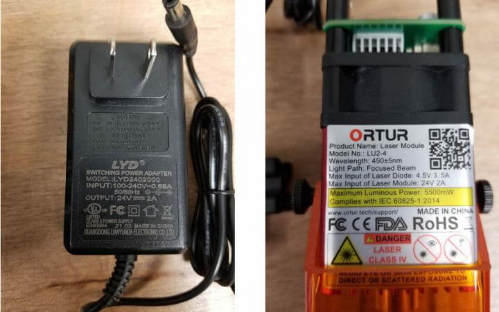 power supply & laser module