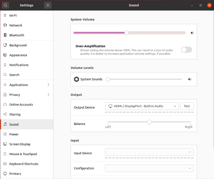 ubuntu 21.04 hdmi audio output