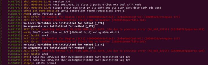 ubuntu dmesg ACPI error ECF2