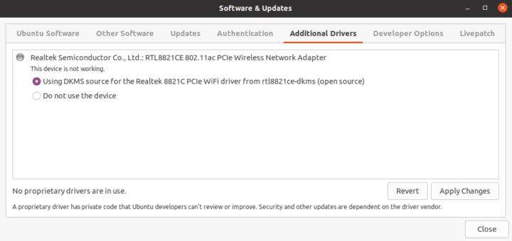ubuntu rtl8821ce wifi driver
