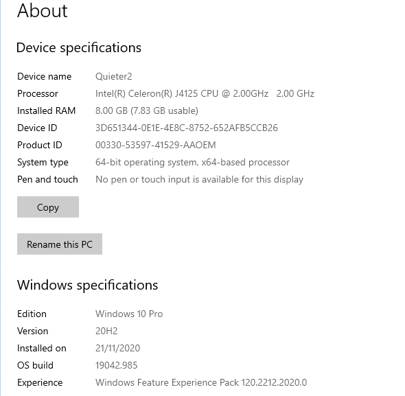 windows device info