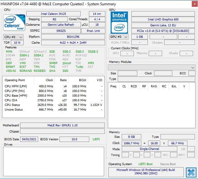 windows hwinfo mele computer quieter2