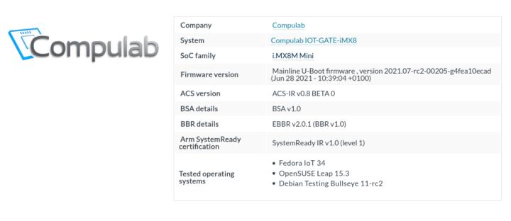 Compulab IOT-GATE-iMX8