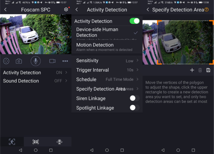 Foscam Activity-Detection Sound Detection