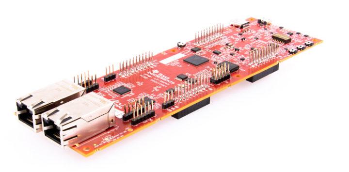 LP-AM243 Sitara AM2434 microcontroller board with Gigabit Ethernet