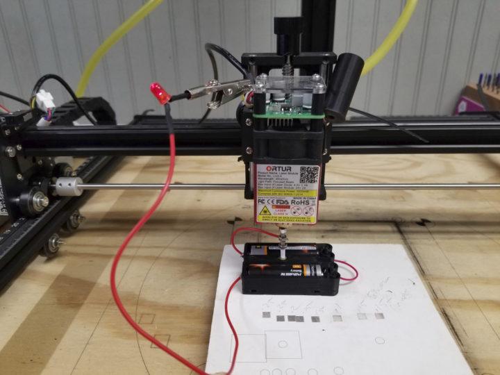 Laser Master 2 focusing jig