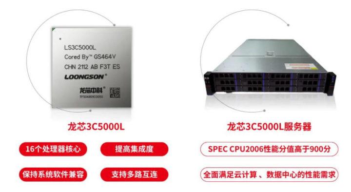 Loongson 3C5000L LoongArch server processor