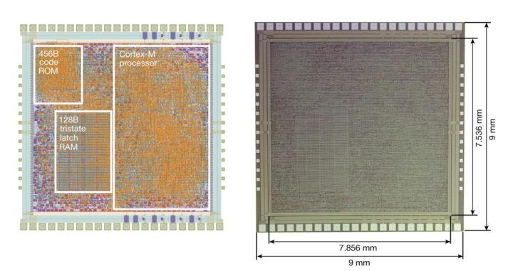 PlasticArm Cortex-M0 plastic MCU
