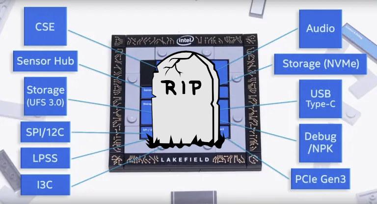 end-of-life intel lakefield hybrid processor
