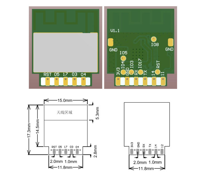 BL-63B pin assignment & dimensions