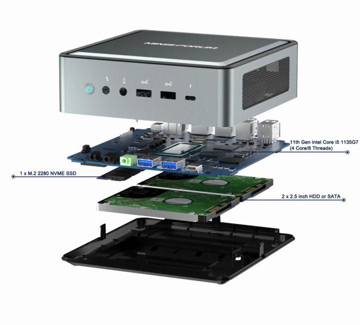 Mini PC dual SATA bay