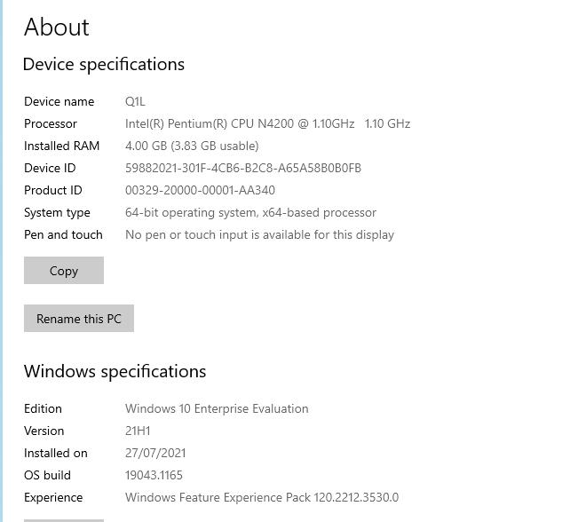 Q1L windows info