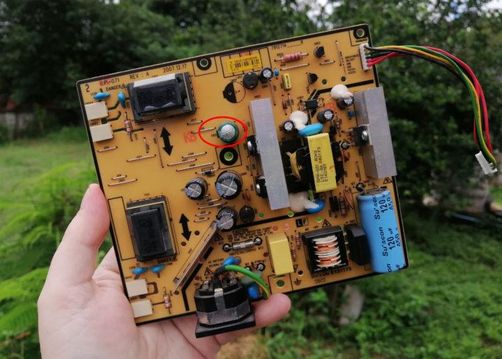 LG Flatron W1934S VGA monitor power supply board